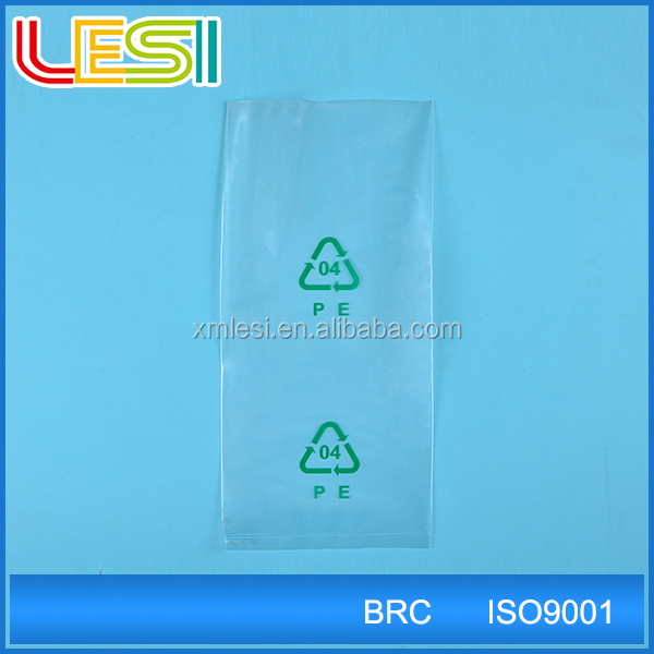 High quality Plastic resealable pe poly bags for grocery packaging