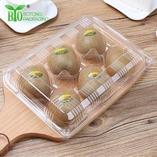Disposable Fruit Containers, Clear Plastic Packaging Box 6 Holes With Clear Lid