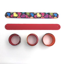 cheap custom silicone rubber slap band - silicon rubber band with full color printed