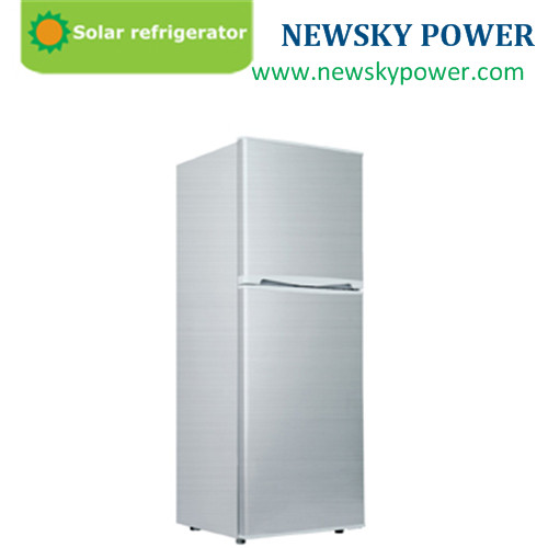138L 110mm thickness solar deep freezer dc used commercial refrigerator