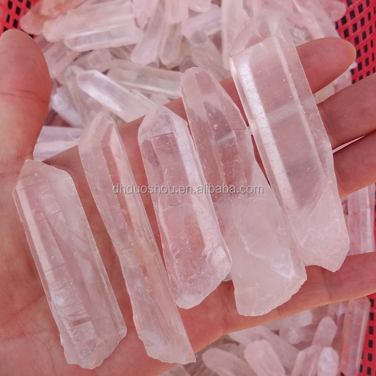bulk wholesale rough natural raw clear quartz crystal rock stone points for home decoration