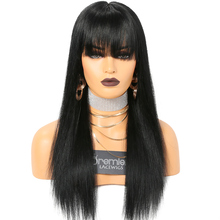 high ponytail silk top full lace wig with hair bang perruque wigs human hair virgin brazilian