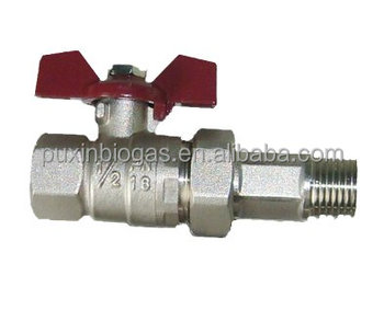 Household gas pipe connection valve