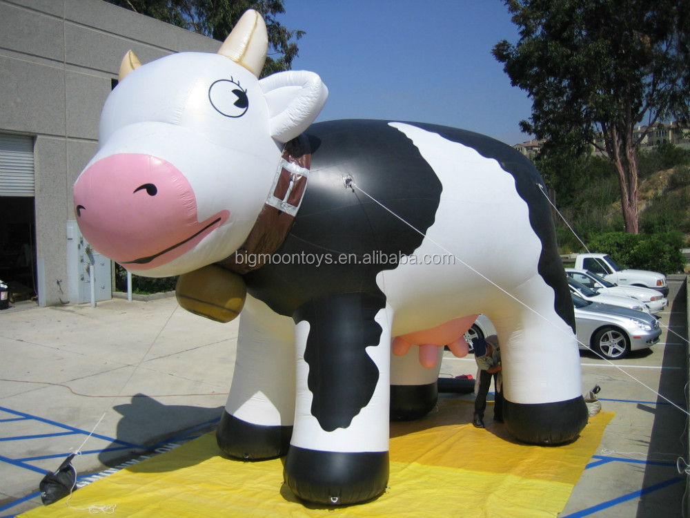 giant inflatable helium cow/ inflatable advertising cow balloon/ customized inflatable flying cow for advertising