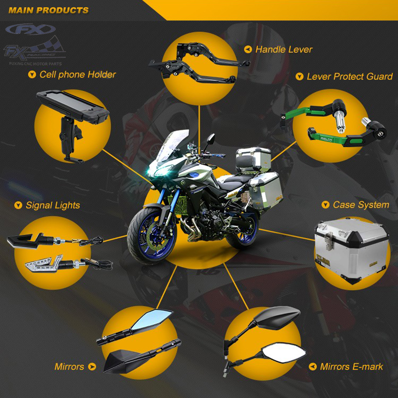 Guangzhou Factory CNC motorcycle parts Fit all motorcycles