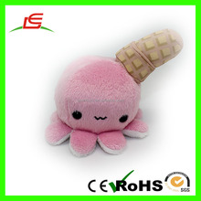 High quality vivid animal sublimation printing stuffed plush toys pink ice cream for kids