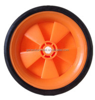 6 inch solid rubber industrial wheel for dustbin, push cart