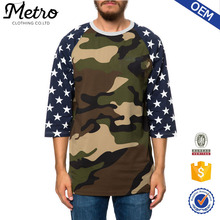 2015 Wholesale Stylish Custom Men Camo Baseball Tee
