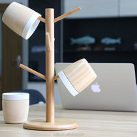 Hot Sale Eco-friendly natural bamboo mug holder ceramic cup holder mug storage rack cup display rack