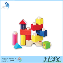Wooden toy educational toy Kindergarten teaching EN71 montessori material Fit together building blocks set 1