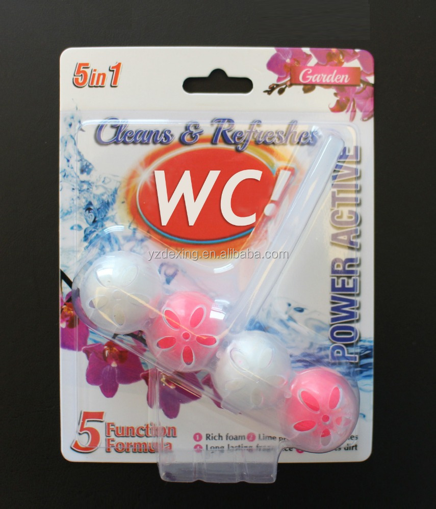 Factory OEM WC toilet cleaner, 5 balls toilet rim blcok