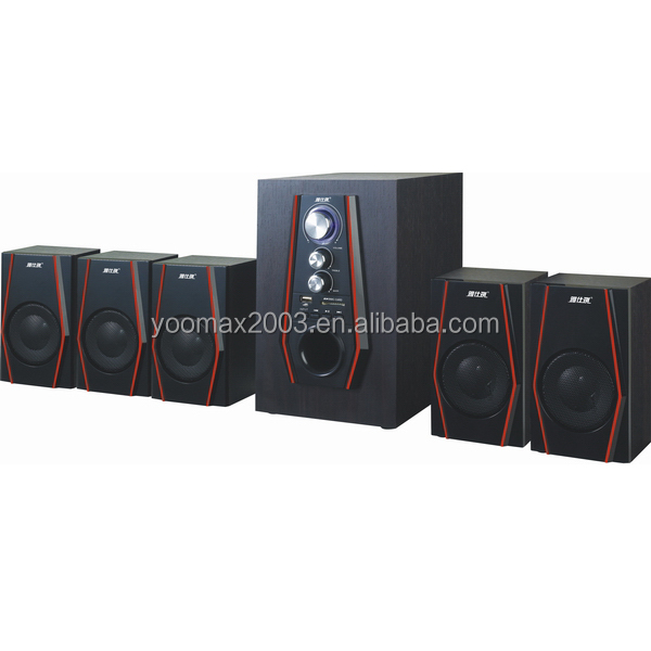 5.1 home theater woofer speaker systems with 4 inch subwoofer USB/SD/FM/remote