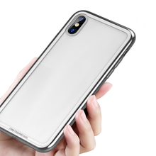 New Product Tpu And Tempered Glass Back Cover Case For Iphone X
