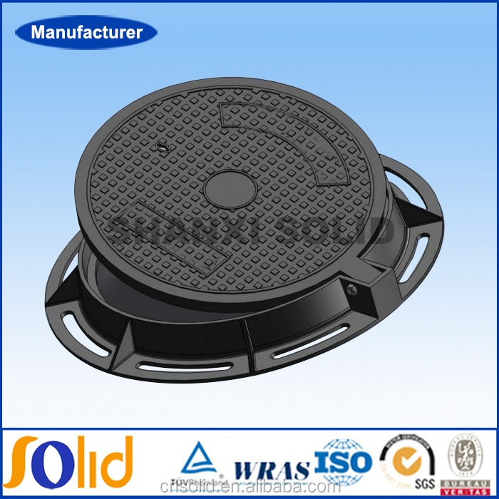 EN124 E600 600 800mm Bitumen Or Epoxy Coating Heavy Duty Cast Iron Manhole Covers