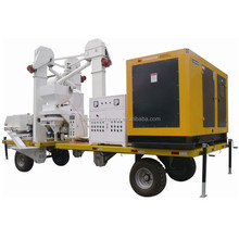 mobile wheat seed processing plant with diesel generator