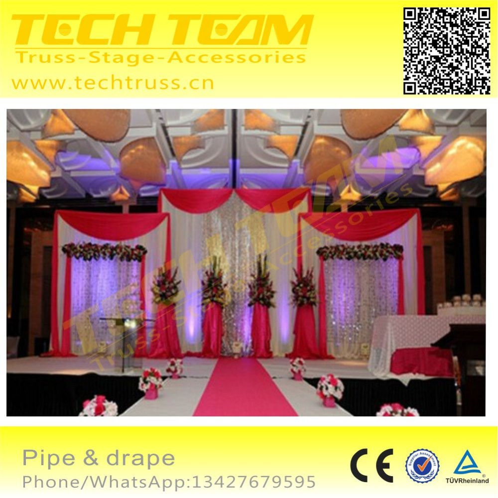 Used Back Blackdrop Pipe And Drape System For Wedding Party