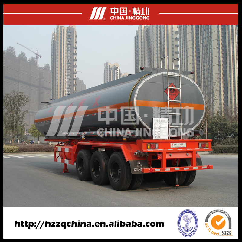 Three axle Carbon Steel Diesel oil tank semi trailer With ISO