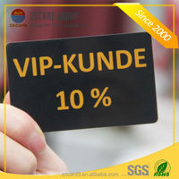 Customized good design silkscreen printed PVC discount gift card