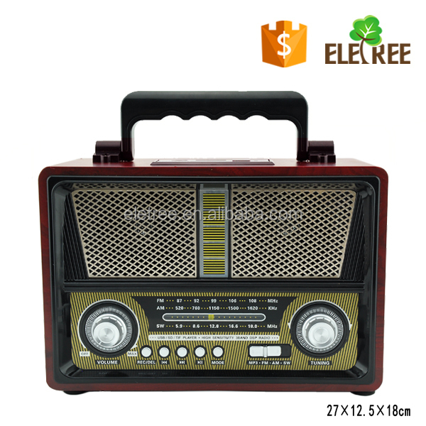 EL- 1802 Rechargeable retro vintage portable multiband radio receiver with usb