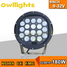 car accessories maiker UTV SUV ATV LED Off Road Light 9inch 180w LED Auto Headlights 180w LED Headlight