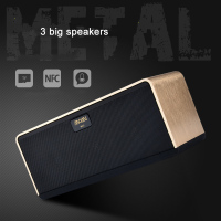 2016 Newest high quality MOMI aluminum alloy strong bass Smart bluetooth speaker