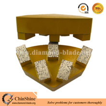 Metal bond Cassani diamond grinding shoe plate for grinding concrete and stone floor