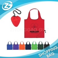 Promotional Logo Reusable Folding Bag Polyester Foldable Shopping Bag