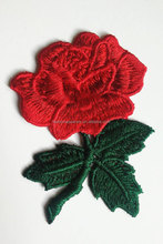 Flower patch, Iron On patch, Rose patch, Rose applique, Embroidered flower applique, Large patch, Rose patches, embroider patch