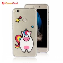 Cute Cow Soft Crystal Silicon Skin Gel Case Cover for Huawei P8 Lite 2017 Honor 8 Lite P9 Lite 2017 Mobile Phone Case