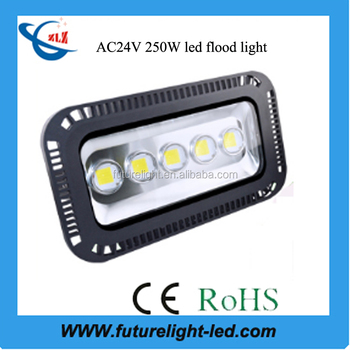 High quality ip66 250 watt 24 volt outdoor led flood light