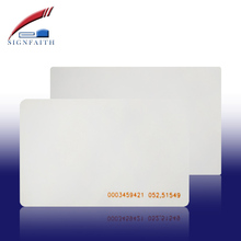 Ntag 203 Chip Cheap Blank PVC Portait Office ID Card Size CR80 Sample Design Printing