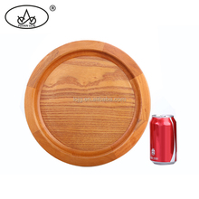 High performance heat resistant bake plate, small round circular wooden tray