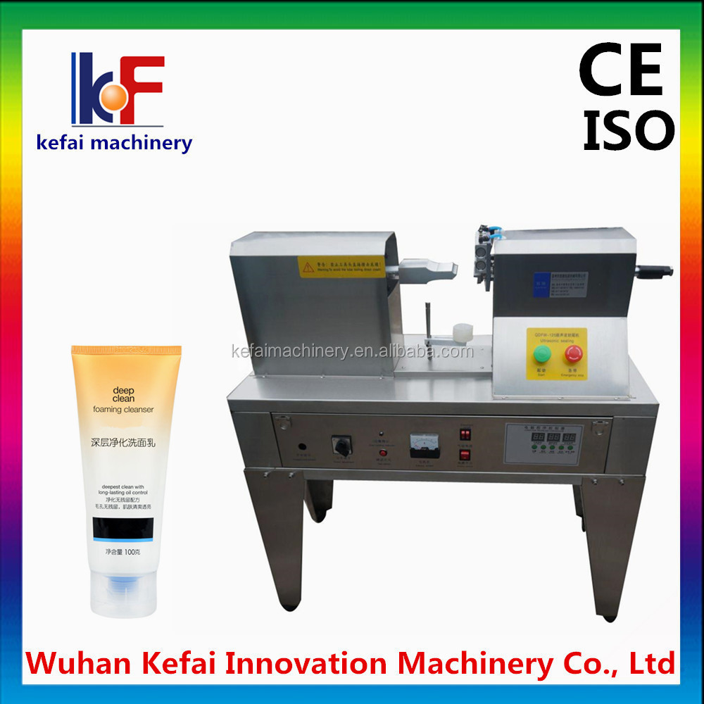 automatic cosmetic aluminum packaging tube sealing machine