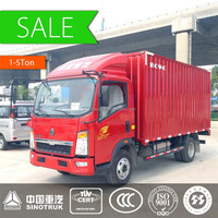 China Sinotruk HOWO 4*2 mini cargo truck 1-5 ton