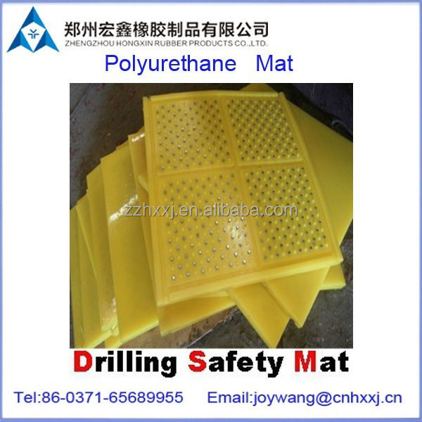 anti-slip rubber mat for oil and gas system