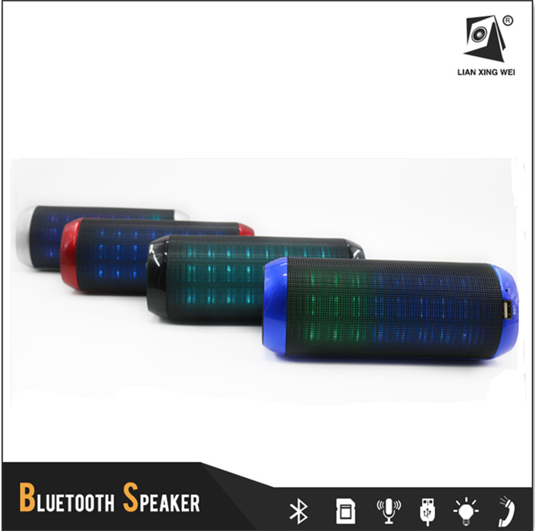 Portable Bluetooth Handsfree Soundbar Loudspeaker Speaker with Led Flash Light