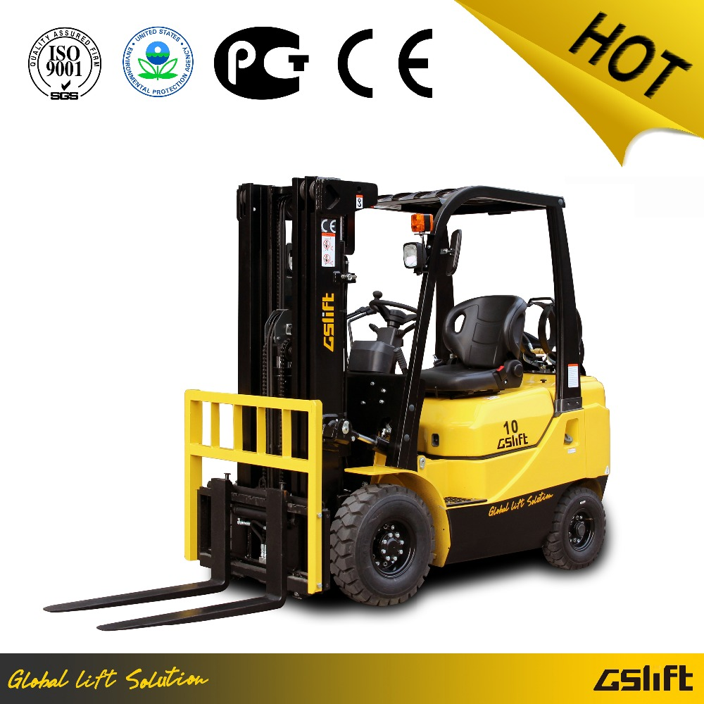 1 Ton LPG Forklift Truck with Nissan Engine EPA/CE approved Hydraulic Automatic Transmission Three Meters