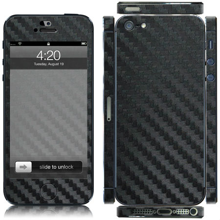 HIGH QUALITY BLACK CARBON FIBER DECAL FULL BODY & SIDES COVER for apple i5