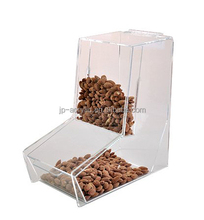 Gravity Feed Acrylic Bulk Food Dispenser with 2 Lids