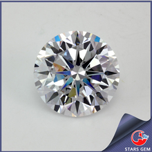 pretty round shape white diamond quality 4mm star cut cubic zirconia
