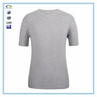 China wholesale plain 100% cotton custom logo blank tee shirt