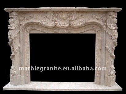 hot selling antique marble cantera stone fireplace