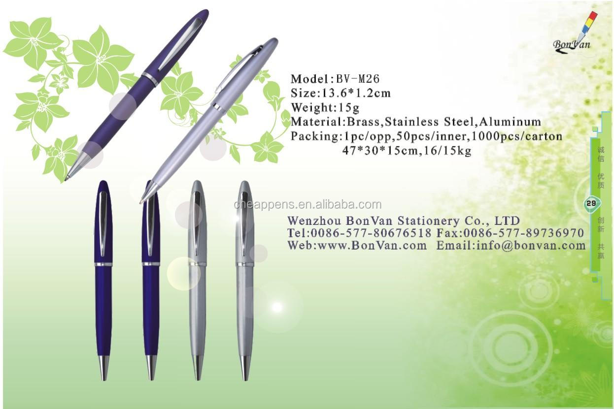 Wholesale Custom Logo Personalized business gift ballpoint Promotional Metal Ball Pen