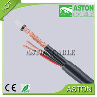 Factory Supply RG Series RG59 RG6 With Power CCTV Security Camera Coaxial Cable