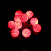 New design red rattan ball led chain lights christmas decoration