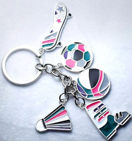 Wholesale Customized logo Key Chain Square Oval Blank Metal Keychain