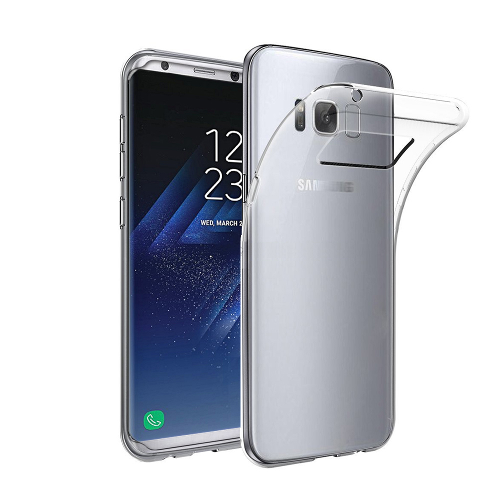 Factory Price Ultra Slim Transparent TPU Bumper Phone Cases For Samsung Galaxy S8
