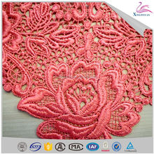 Special price water soluble collar lace embroidered collar laces with flower for clothing
