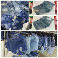 1.38 Dollar Wholesale Stock Cheappest Yough Girl 100% Jeans Shorts Jean/Woman Jean/Denim Jean (gdzw241)