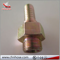 "Brass Hose Fitting, Reducer Adapter, 1/2"" Barb x 1/2"" NPT Male Pipe"